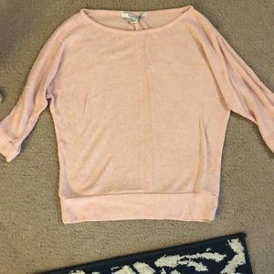 Forever 21 Light Pink 3/4 Sleeve Shirt